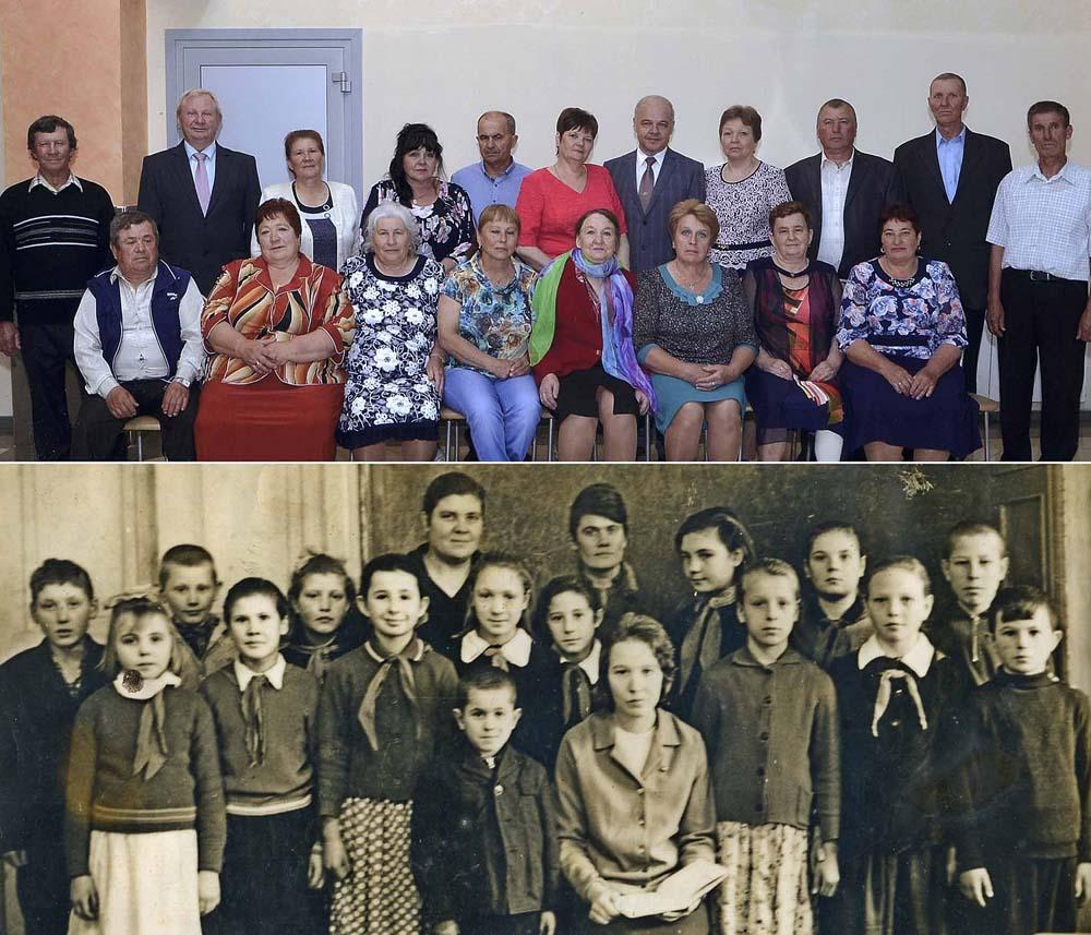 Выпускники 1970-го года 8-летней Лебедянской школы.