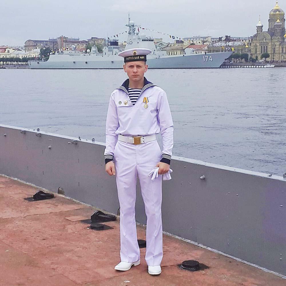 Александр Фомин – участник Главного морского парада в Санкт-Петербурге.