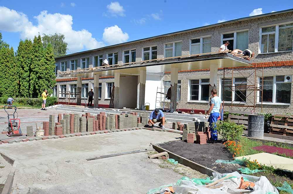 В филиале гимназии с. Ольговка в с. Тихвинка проделан большой объем ремонтных работ.