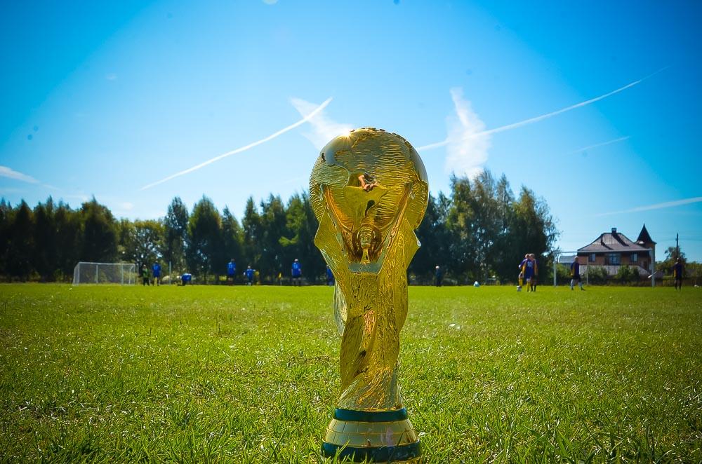 Именно так выглядит трофей, за который будут бороться сборные со всего мира в 2018 году. Пока же точная копия кубка мира уезжает из Добринки в Елец.