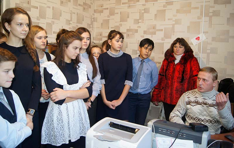 Корреспондент газеты Роман Панов поделился с ребятами своим опытом, дав несколько дельных советов.