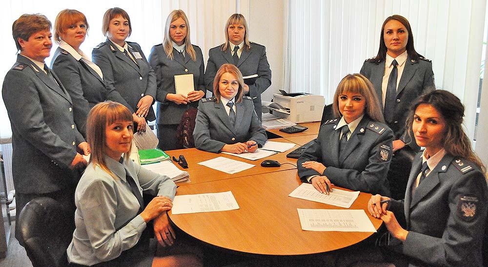 Сотрудники налоговой инспекции, обслуживающие Грязинский и Добринский районы.