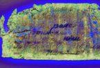 Увы, но разобрать надпись на записке, которую нашли с медальоном, практическт невозможно.