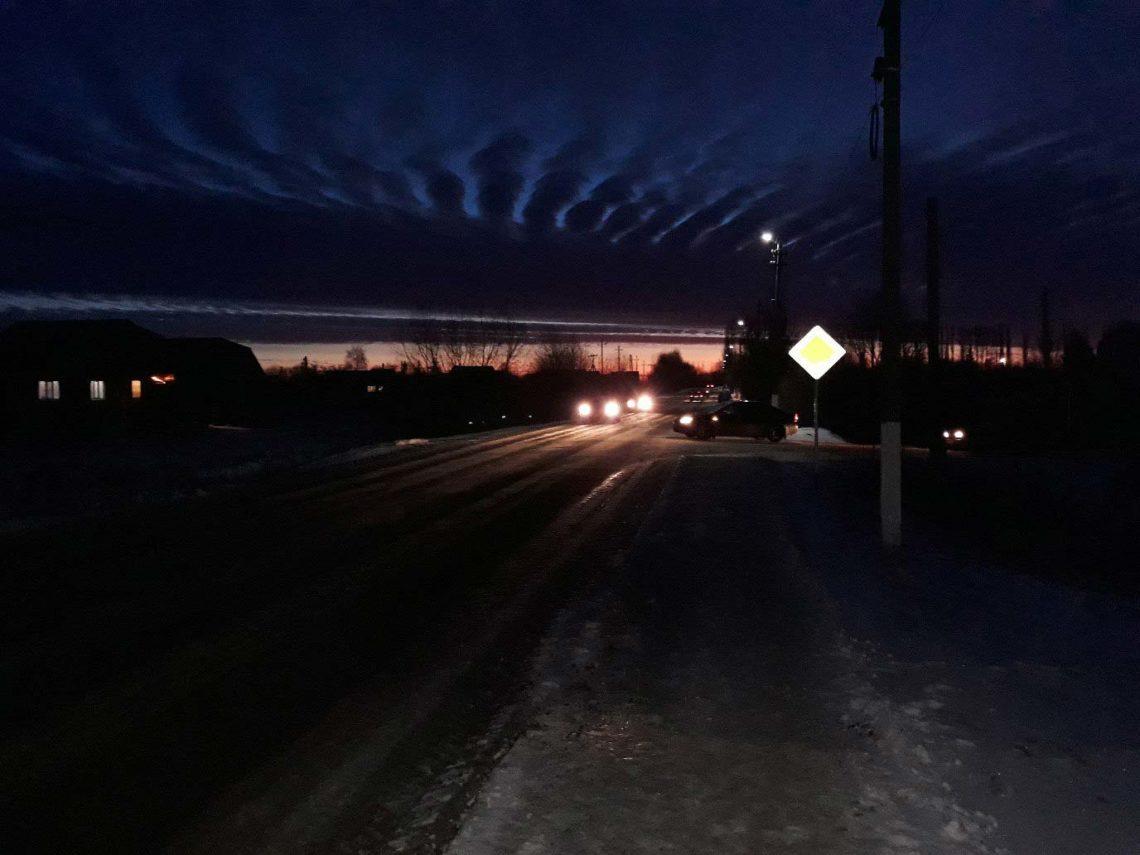След от предполагаемого НЛО был заметен даже в Добринке.