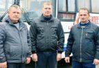 Водители автопредприятия Сергей Токмаков, Сергей Ряскин и Виктор Курганников по праву считаются одними из лучших работников.